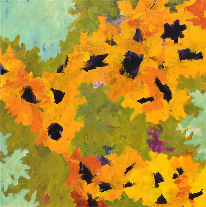 Discover Original Art by Bryan Jernigan | Sunflowers acrylic painting | Art for Sale Online at UGallery