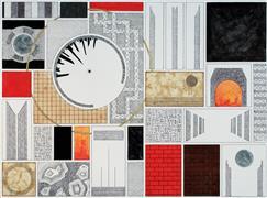 Abstract art,Architecture art,Surrealism art,Non-representational art,Modern  art,ink artwork,Nimrod's Blueprint