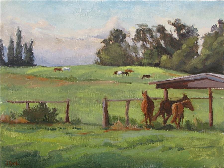 Original art for sale at UGallery.com | Horse Heaven by JAMIE ROTH | $750 | Oil painting | 12' h x 16' w | http://www.ugallery.com/oil-painting-horse-heaven