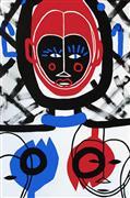 Expressionism art,Representational art,Primitive art,acrylic painting,African Mask