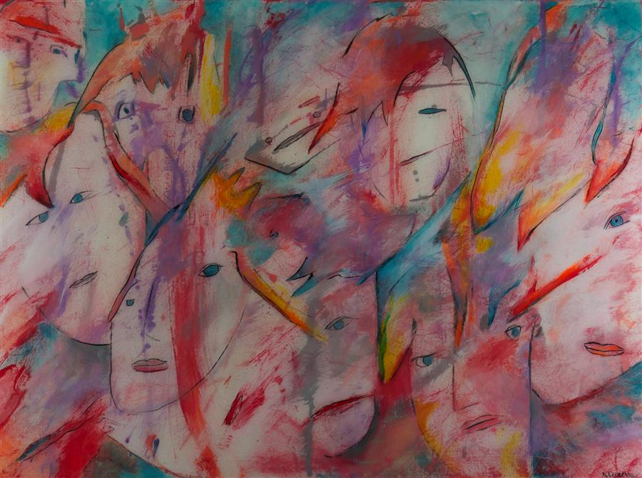 Original art for sale at UGallery.com | Closure by JILL CONCETTA | $1,075 | Mixed media artwork | 30' h x 40' w | http://www.ugallery.com/mixed-media-artwork-closure