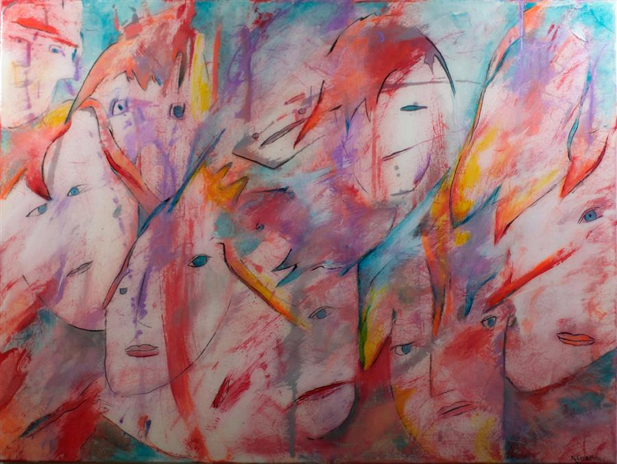 Original art for sale at UGallery.com | Closure by J.  CONCETTA | $1,075 | Mixed media artwork | 30' h x 40' w | http://www.ugallery.com/mixed-media-artwork-closure