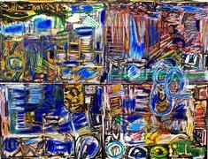 Abstract art,Expressionism art,Non-representational art,printmaking,Swamp Walk