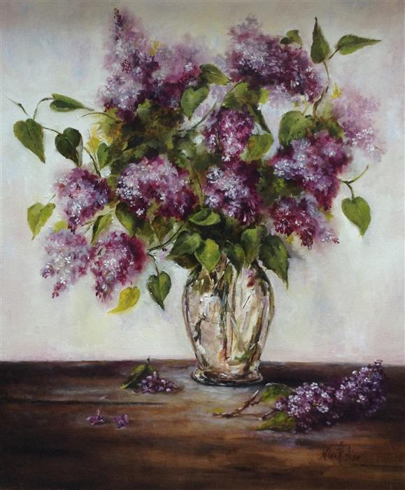 Discover Original Art by Nina R Aide | Lilacs oil painting | Art for Sale Online at UGallery