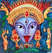 Religion art,Representational art,mixed media artwork,Kali of the Ocean