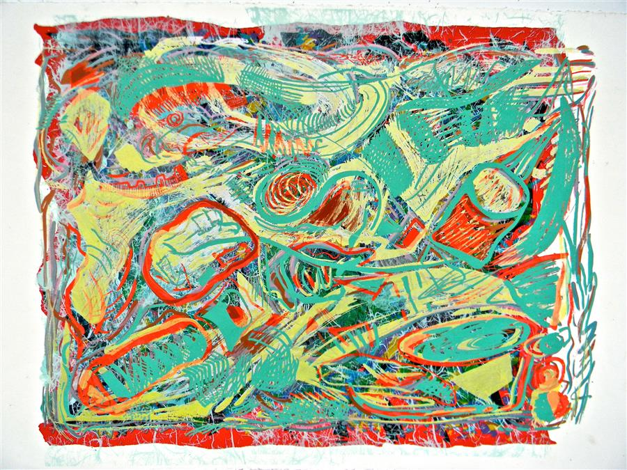 Original art for sale at UGallery.com | Ice Floats 2 by ANDREA EPSTEIN | $575 | Printmaking | 26' h x 40' w | http://www.ugallery.com/printmaking-ice-floats-2