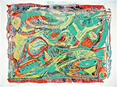 Abstract art,Expressionism art,Non-representational art,printmaking,Ice Floats 2