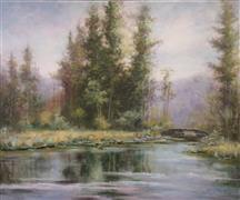 Impressionism art,Landscape art,Classical art,Representational art,oil painting,The Essence of the Balsam