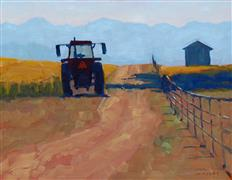 Impressionism art,Landscape art,Western art,Classical art,Representational art,oil painting,Tractor at Rest