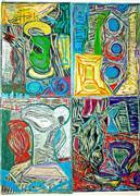 Expressionism art,Still Life art,Non-representational art,Modern  art,printmaking,Broken Vessels 10
