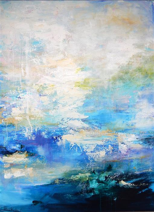 Discover Original Art by Hilma Koelman | Ocean Mist acrylic painting | Art for Sale Online at UGallery