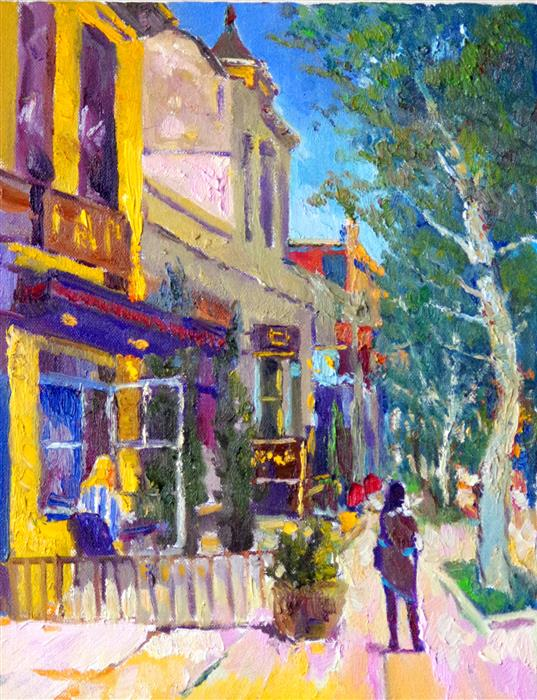Discover Original Art by Suren Nersisyan | Somewhere on 14th Street (Washington DC) oil painting | Art for Sale Online at UGallery