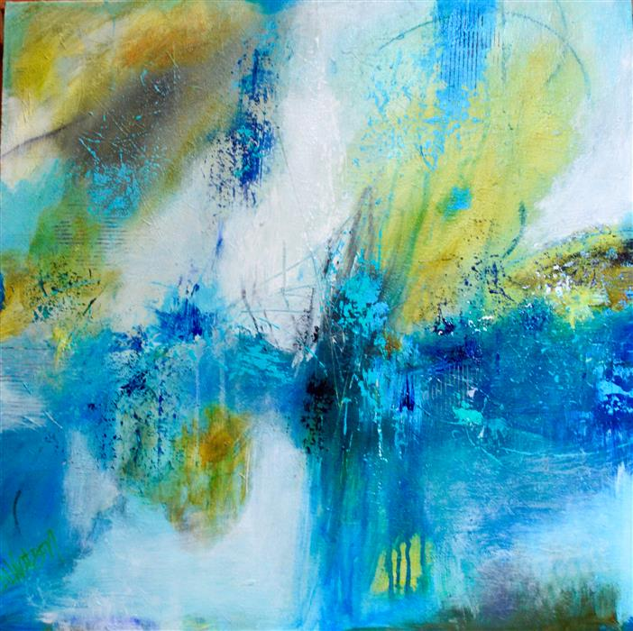 Original art for sale at UGallery.com | Opus 1 by DL WATSON | $1,300 | Acrylic painting | 24' h x 24' w | http://www.ugallery.com/acrylic-painting-opus-1