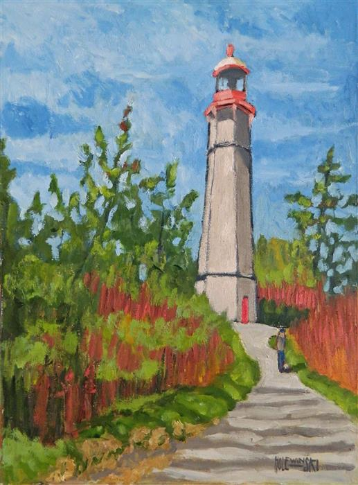 Discover Original Art by Robert  Holewinski | Gibraltar Point Lighthouse oil painting | Art for Sale Online at UGallery
