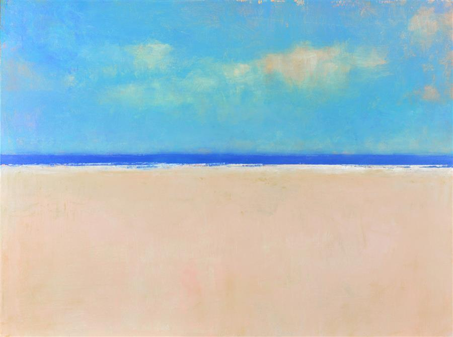 Original art for sale at UGallery.com | Beach Day by DON BISHOP | $1,200 | Acrylic painting | 30' h x 40' w | http://www.ugallery.com/acrylic-painting-beach-day-45096