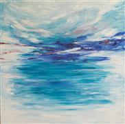 Abstract art,Seascape art,Non-representational art,oil painting,Oceanside