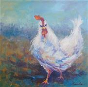 Animals art,Representational art,oil painting,Festive Vigilance 1