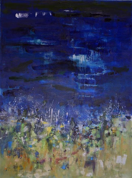 Discover Original Art by Changsoon Oh | Night Beach oil painting | Art for Sale Online at UGallery