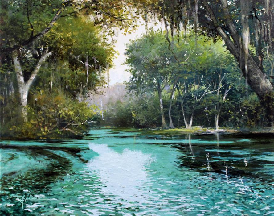 Discover Original Art by Kent Sullivan | Blue Springs oil painting | Art for Sale Online at UGallery
