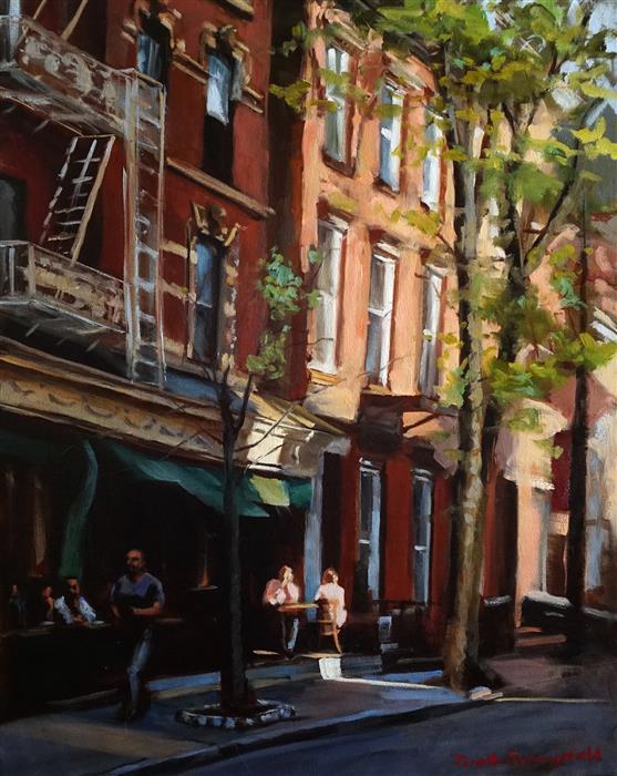 Original art for sale at UGallery.com | A Street in Greenwich Village by JONELLE SUMMERFIELD | $775 | Oil painting | 20' h x 16' w | http://www.ugallery.com/oil-painting-a-street-in-greenwich-village