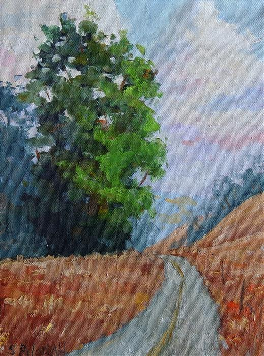 Original art for sale at UGallery.com | Eucalyptus Drive by STEVEN GUY BILODEAU | $350 | Oil painting | 12' h x 9' w | http://www.ugallery.com/oil-painting-eucalyptus-drive