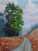 Impressionism art,Landscape art,Representational art,oil painting,Eucalyptus Drive