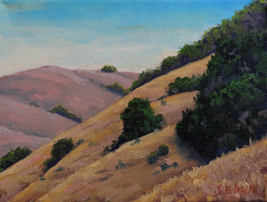 Discover Original Art by Steven Guy Bilodeau | Sonoma County Golden Hills oil painting | Art for Sale Online at UGallery