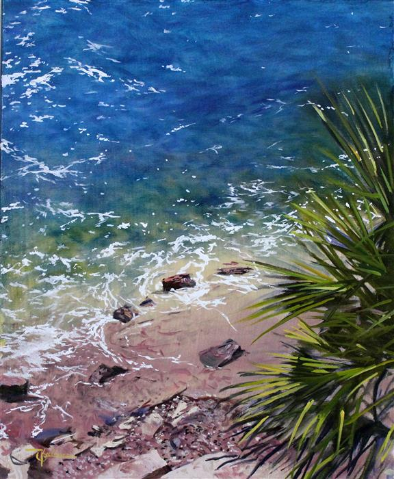 Discover Original Art by Kent Sullivan | Laguna Shore oil painting | Art for Sale Online at UGallery