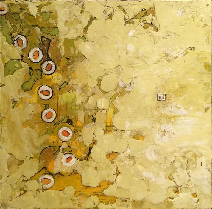Discover Original Art by Annie Darling | Simpleton (Aka Spicy Tuna) encaustic artwork | Art for Sale Online at UGallery