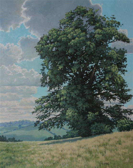 Discover Original Art by Stefan Conka | Oak Tree oil painting | Art for Sale Online at UGallery