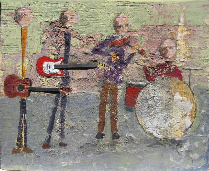 Original art for sale at UGallery.com | Quartet by DON WEAVER | $375 | Mixed media artwork | 12' h x 18' w | http://www.ugallery.com/mixed-media-artwork-quartet