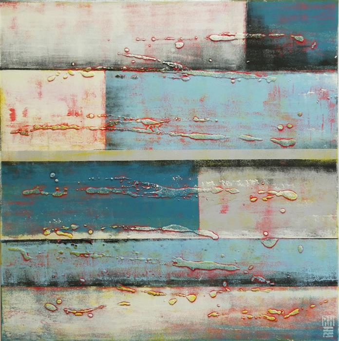 Original art for sale at UGallery.com | Blocked Squares by RONALD HUNTER | $1,000 | Acrylic painting | 31' h x 31' w | http://www.ugallery.com/acrylic-painting-blocked-squares