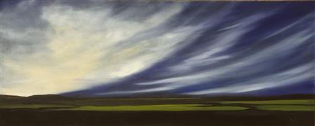 Impressionism art,Landscape art,Representational art,oil painting,Aerial Dramatics IX