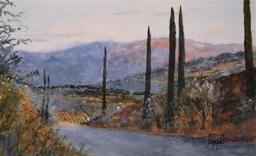 Original art for sale at UGallery.com | Southern California by JUDY MUDD | $525 | Watercolor painting | 10' h x 16' w | http://www.ugallery.com/watercolor-painting-southern-california