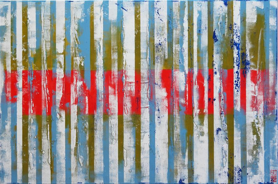 Discover Original Art by Ronald Hunter | Red White Blue acrylic painting | Art for Sale Online at UGallery