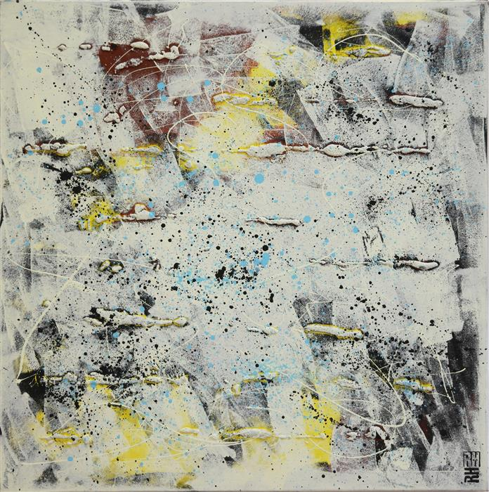Original art for sale at UGallery.com | Black & White Abstract Pictures by RONALD HUNTER | $975 | Acrylic painting | 31.5' h x 31.5' w | http://www.ugallery.com/acrylic-painting-black-white-abstract-pictures