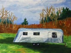 Impressionism art,Travel art,oil painting,Airstream 1