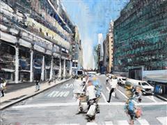 Architecture art,Impressionism art,People art,Travel art,Representational art,oil painting,Street Motion