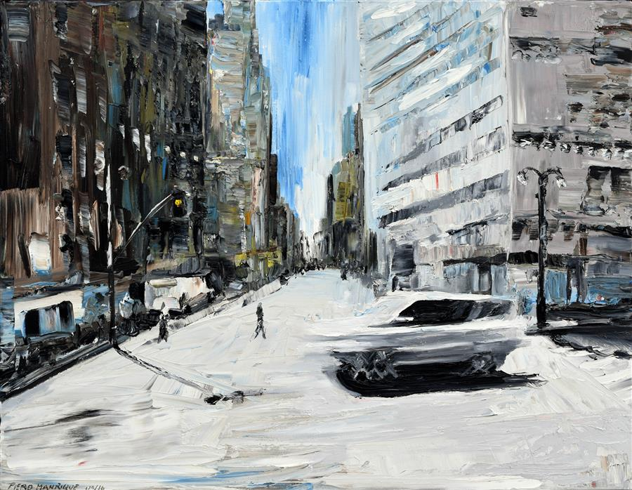 Original art for sale at UGallery.com | Running Car by PIERO MANRIQUE | $1,200 | Oil painting | 24' h x 30' w | http://www.ugallery.com/oil-painting-running-car