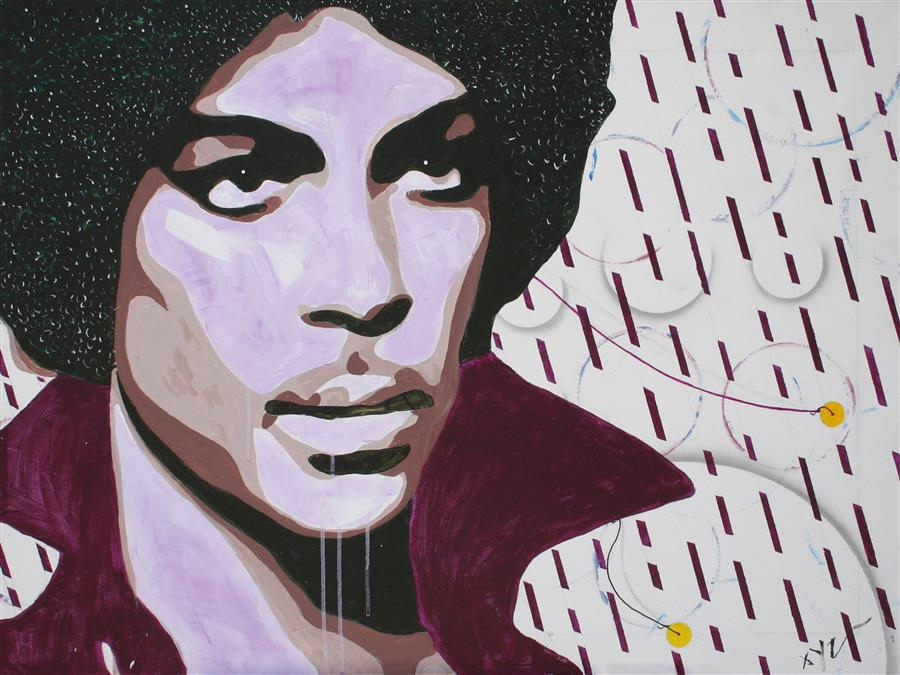 Original art for sale at UGallery.com | Purple Rain by XINYU ZHANG | $1,175 | Acrylic painting | 30' h x 40' w | http://www.ugallery.com/acrylic-painting-purple-rain-45272