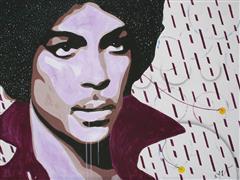People art,Pop art,Fashion art,Representational art,acrylic painting,Purple Rain