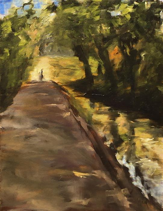 Original art for sale at UGallery.com | A Walk in the Shade by MANDY MAIN | $475 | Oil painting | 14' h x 11' w | http://www.ugallery.com/oil-painting-a-walk-in-the-shade