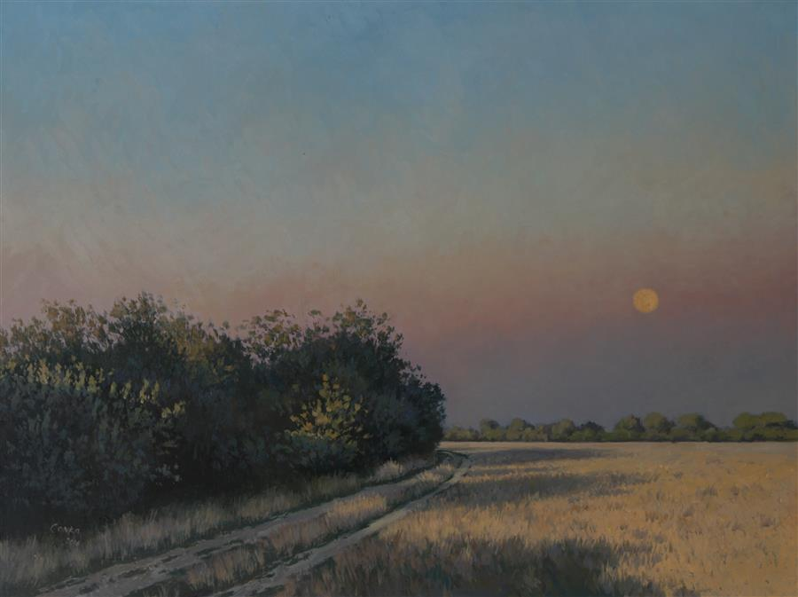 Original art for sale at UGallery.com | Moonshine by STEFAN CONKA | $1,400 | Oil painting | 23.7' h x 31.4' w | http://www.ugallery.com/oil-painting-moonshine