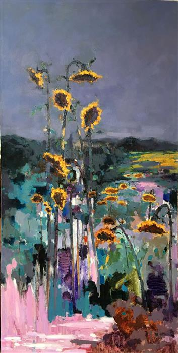 Discover Original Art by Jingshen You | Sunflowers 4 oil painting | Art for Sale Online at UGallery