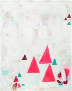 Abstract art,Non-representational art,acrylic painting,Fuchsia Monks