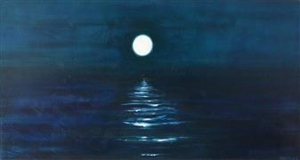 Impressionism art,Seascape art,Representational art,acrylic painting,Reflection