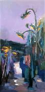 Impressionism art,Nature art,Flora art,Representational art,oil painting,Sunflower 6