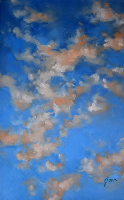 Original art for sale at UGallery.com | Twilight Sky in Oaxaca by OLEG OSIPOFF | $775 | Oil painting | 22' h x 15' w | http://www.ugallery.com/oil-painting-twilight-sky-in-oaxaca