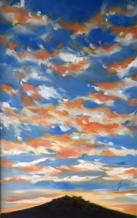 Original art for sale at UGallery.com | Sunset over Oaxaca by OLEG OSIPOFF | $775 | Oil painting | 22' h x 15' w | http://www.ugallery.com/oil-painting-sunset-over-oaxaca