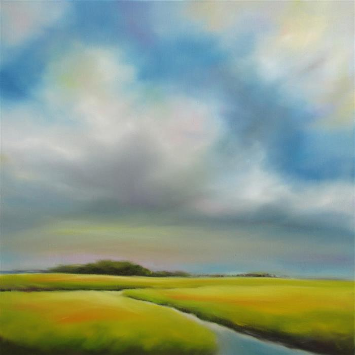 Discover Original Art by Nancy Hughes Miller | Quiet Marsh oil painting | Art for Sale Online at UGallery